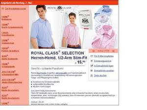 (Offline) Olymp Luxor Slim Line (Royal Class Selection) 1/2 Arm Hemd @Aldi Süd 15,99€