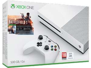 MICROSOFT XBOX ONE S 500GB KONSOLE & BATTLEFIELD 1 & CALL OF DUTY INFINITE WARFARE & GTA V