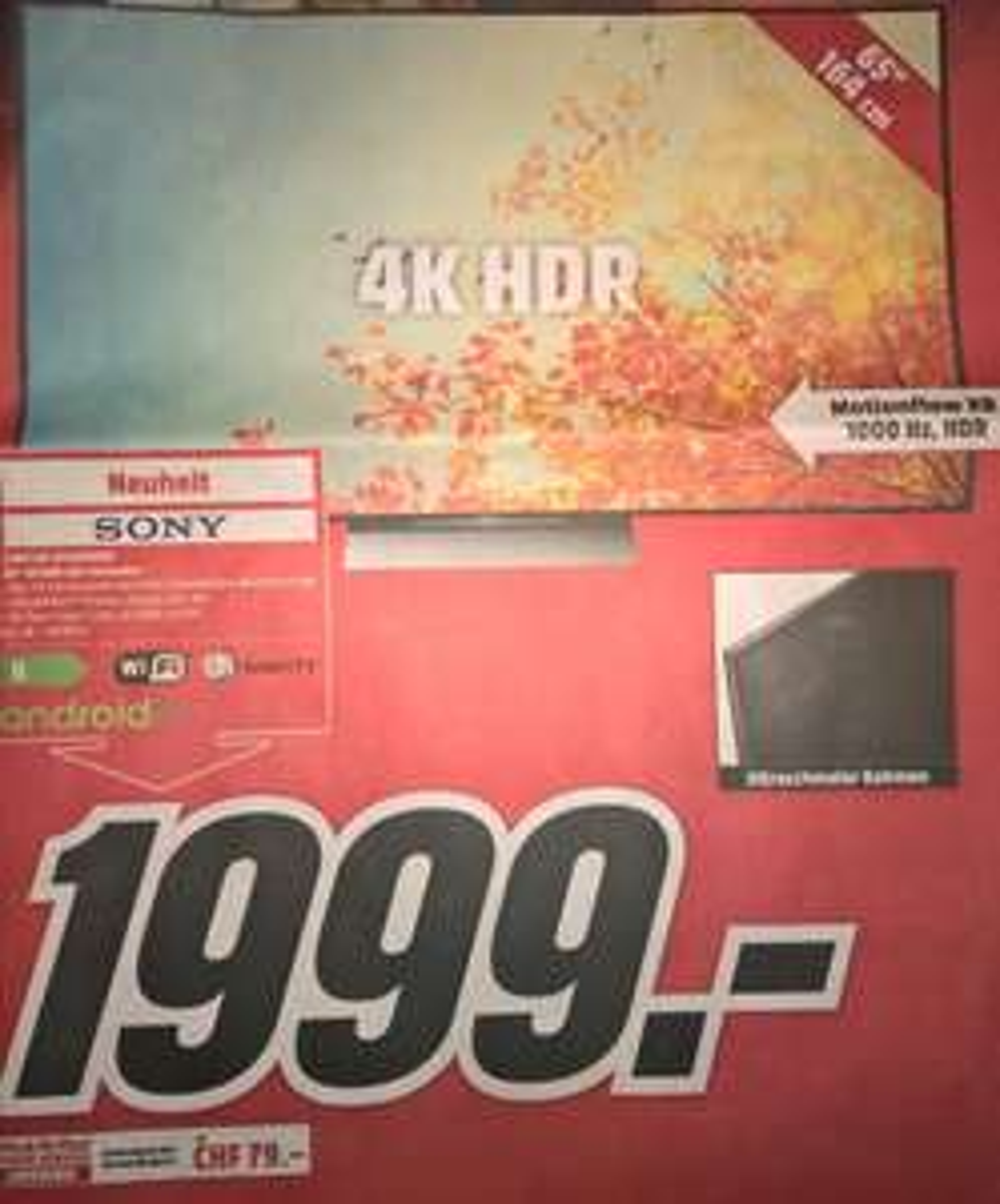 [CH-MediaMarkt] Sony KD-65XD9305B