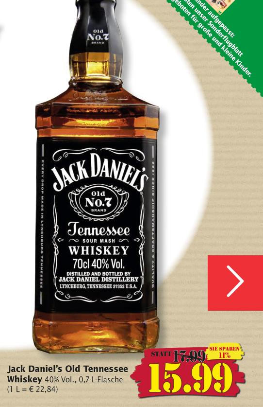 Jack Daniels 70cl 40% [Marktkauf]