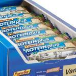 30er Box Powerbar Protein Plus Low Carb Riegel (Vanille und Erdbeer)