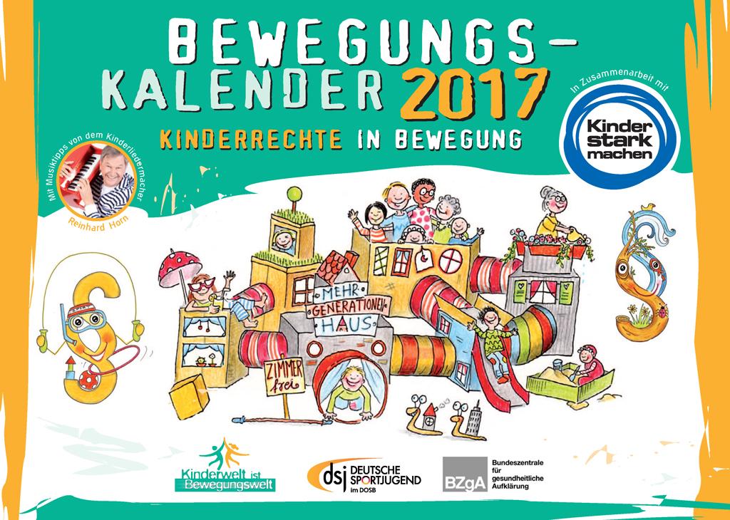 Bewegungskalender 2017 kostenlos beim Deutschen Sportjugendbund