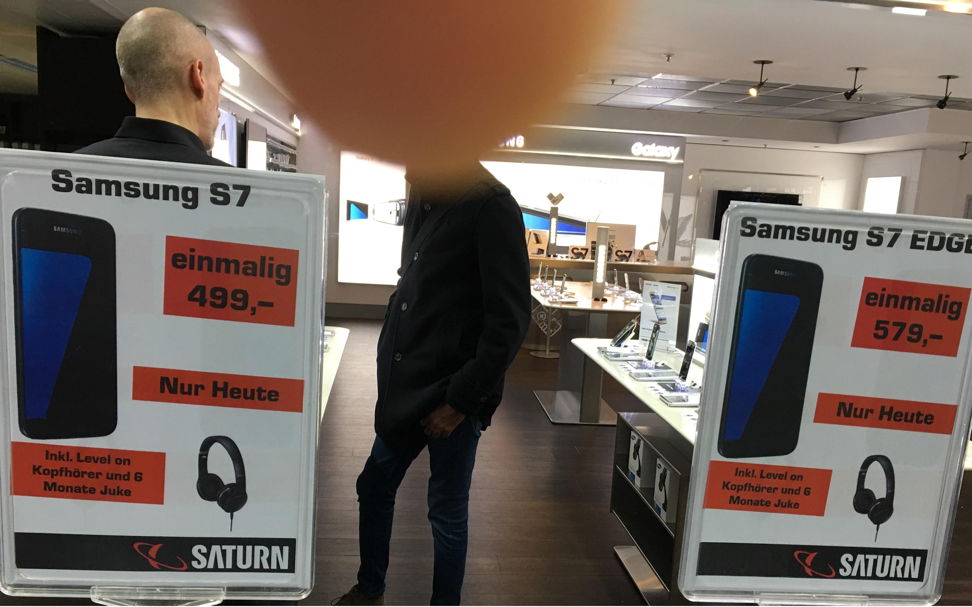 Saturn München Theresienhöhe S7 und S7 Edge 100 € Günstiger