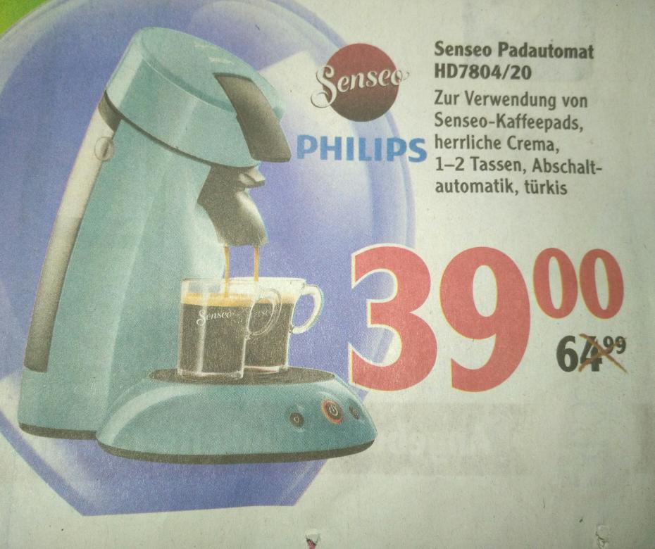 Senseo Padmaschine 7804/20 (Globus Homburg/Einöd)