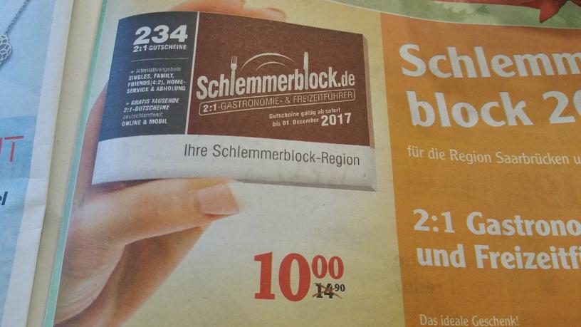 [ Lokal ] Globus Völklingen -  Schlemmerblock 2017