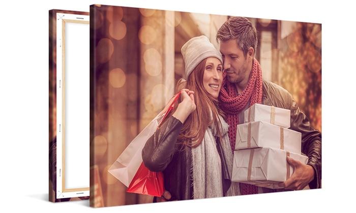 Günstige Fotoleinwand 60 x 40, über 20% Gutschein nur heute bei Croupon. Versand inclusive!
