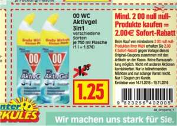 [HERKULES] 2x 00 WC AKTIV Gel für 0,50€ ##Angebot+Coupon##