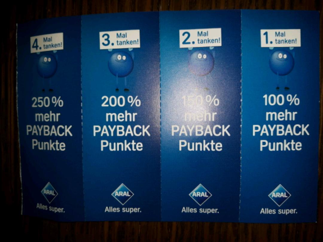 ?(Aral/Payback) Bis zu 250% mehr Payback Punkte beim Tanken  (Gültig bis 04.12.2016)