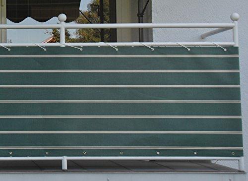 Balkonbespannung Dralon Nr. 2300, Grün, 90 cm hoch, Länge: 8 Meter? für 25,07€