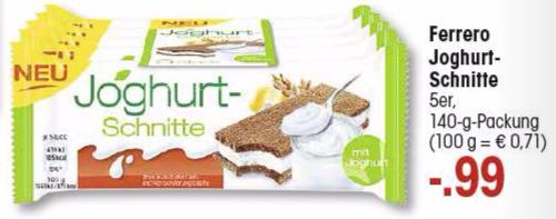 Ferrero Joghurt-Schnitte 5er Pack für 0,59€ bei Edeka (Angebot+Coupon)