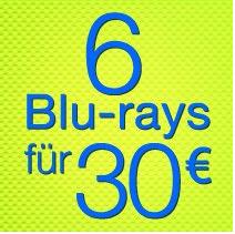 [amazon.de] 6 Blu Rays für € 30,00 (457 Filme: Inception, Conjuring, Hobbit, HdR, Sieben u.v.m.)