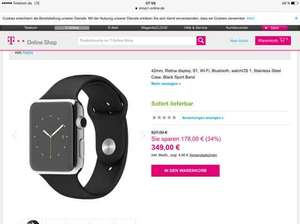 42mm, Retina display, S1, Wi-Fi, Bluetooth, watchOS 1, Stainless Steel Case, Black Sport Band