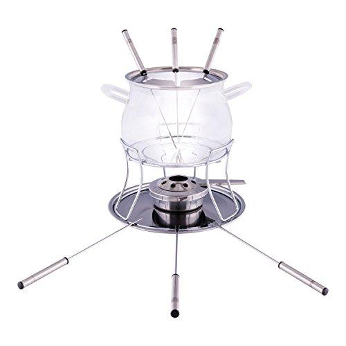 Style'n Cook Fondue-Set aus Glas inkl. Spritzschutz & Gabeln für 39,99€ @ Amazon