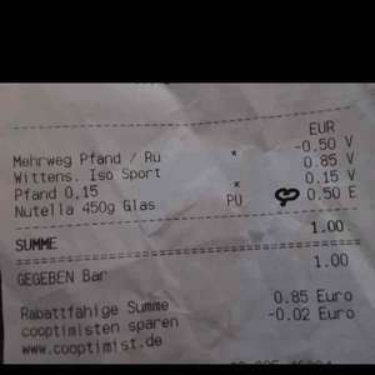 [lokal] 1kg = 1,11€ 450g Nutella für 0,50€! Sky Hamburg