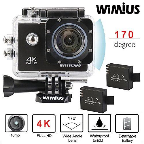 [Amazon Prime] WiMiUS Q1 Actioncam 4k in 30fps mit umfangreichem Set für 48,99 €