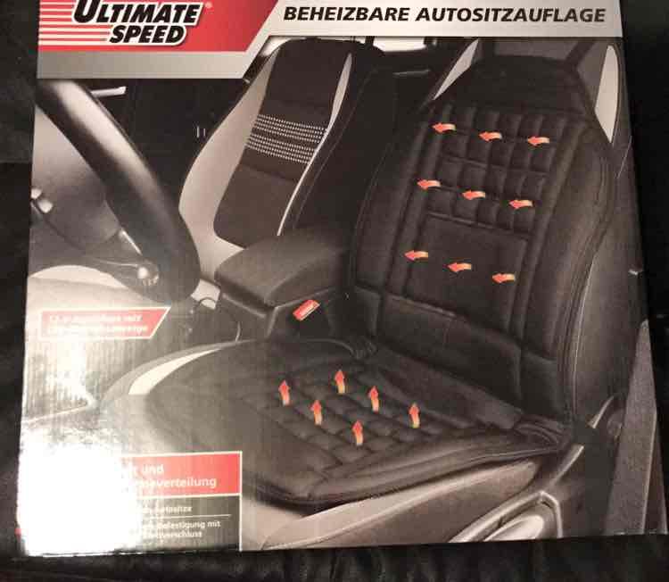 Bundesweit Lidl + Erfahrungsbericht Beheizbare Autositzauflage /Sitzheizung