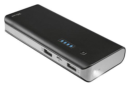 Trust Urban 12500 mAh Powerbank - externer Akku (hohe kapazität, 2 USB Anschlüsse, geeignet für iPhone 7/7 Plus, 6S/6S Plus, Galaxy S7/S7 Edge, iPad Air 2, Galaxy Tab S2 ua.)