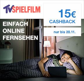 TV SPIELFILM Überall-TV einen Monat für 9,99 und 15,- EUR Cashback. Jederzeit kündbar