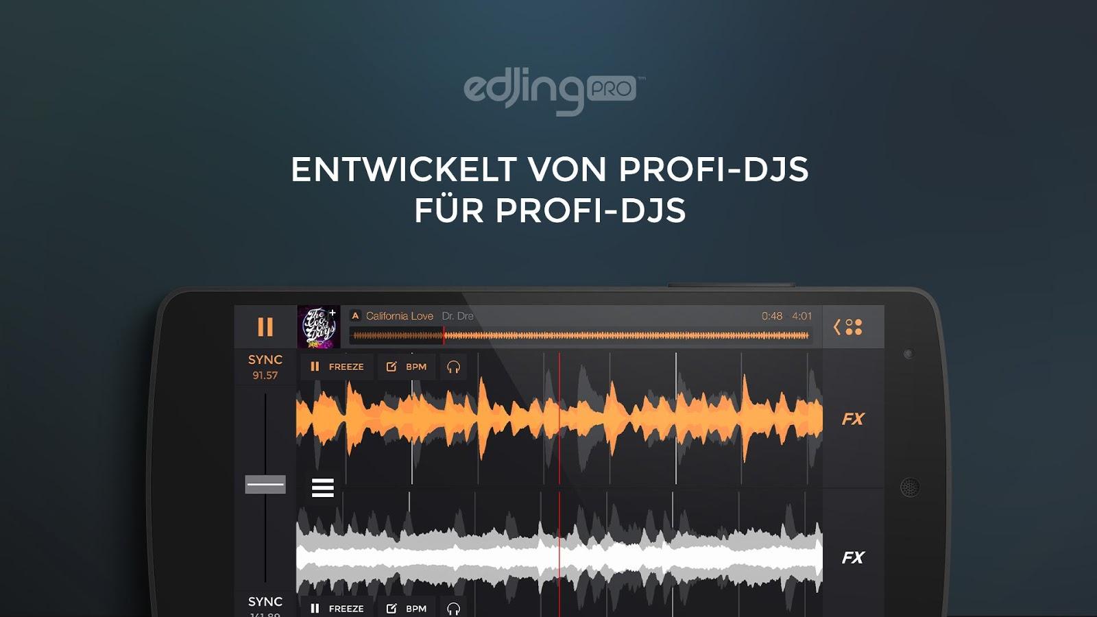 [Android - Playstore] edjing Pro - Musik DJ Mixer als App der Woche für 0,10 €