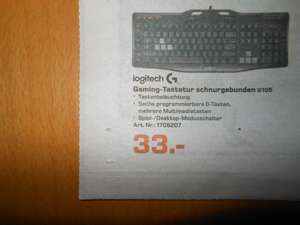 Logitech Gaming Keyboard G105 DE für 33€ bei Saturn in Dresden