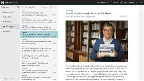 Nextgen Reader kostenlos für Windows 10
