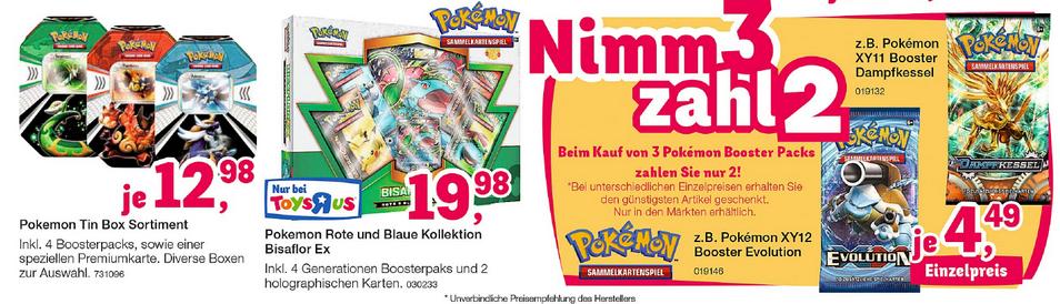 toysrus Pokemon Booster TCG Nimm 3, zahl 2