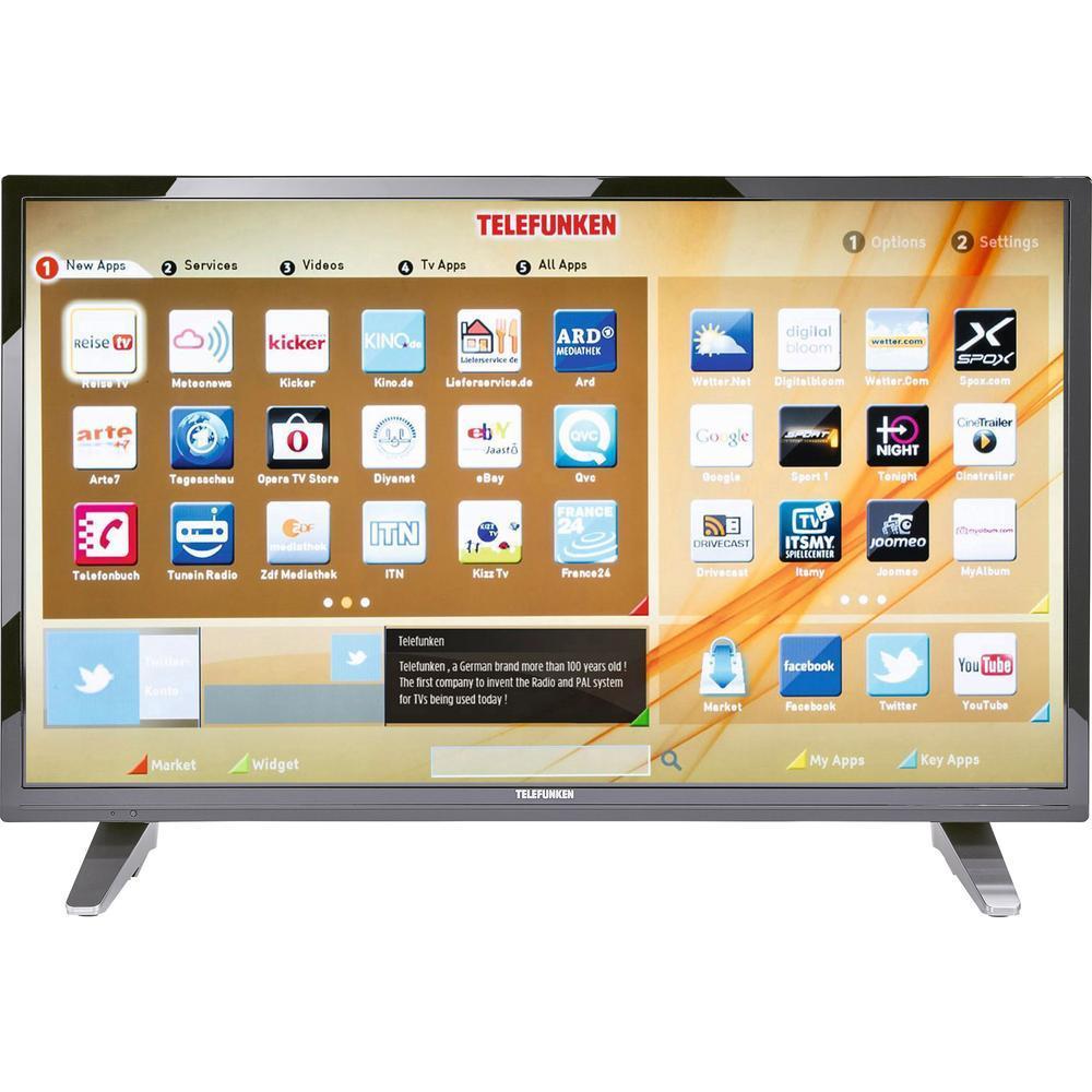 Telefunken 32 Zoll Full-HD-LED-TV A32F435A, Tripletuner (ohne DVB-T2), Smart TV, WLAN, CI+ Schwarz für 178 € @ conrad.de