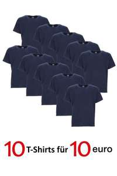 10 X RUSSELL T-Shirt Set Herren --> Schwarz / Weiß / Navy  --> 10 € + 4,95 € Versand  -> 100% gekämmte ringgesponnene Baumwolle
