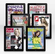 Digitale Gratis-Ausgaben von Stern, Gala, Brigitte, Essen&Trinken, Häuser, Schöner Wohnen