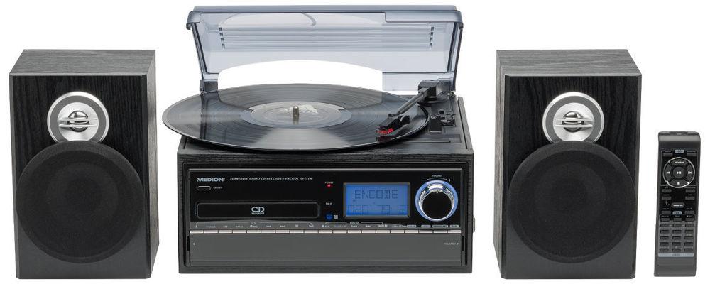 MEDION LIFE E69402 Platten- und Kassettenspieler mit CD-Player MP3 Umwandlung für 88,88€ inkl. Versand