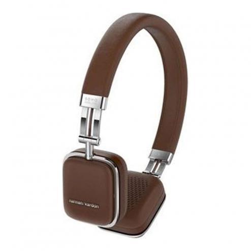 [T-Online] Harman/Kardon Soho Wireless NFC Bluetooth On-Ear Mini Kopfhörer (Integrierter Lautstärkeregelung/Fernbedienung/Mikrofon, Kompatibel mit Apple iOS/Android Smartphones/Tablets/MP3 Geräten) braun