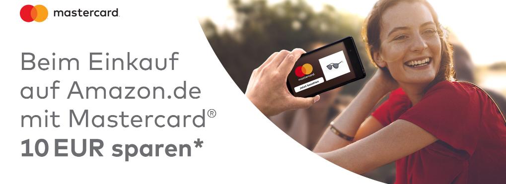 10 EUR Amazon Gutschein kostenlos für Mastercard Kunden
