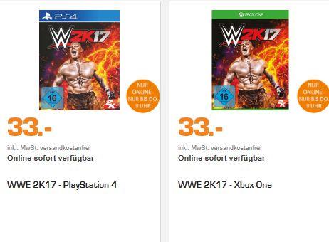 [Saturn Late Night] WWE 2K17 (Playstation 4 und XboxOne) für je 33,-€ Versandkostenfrei