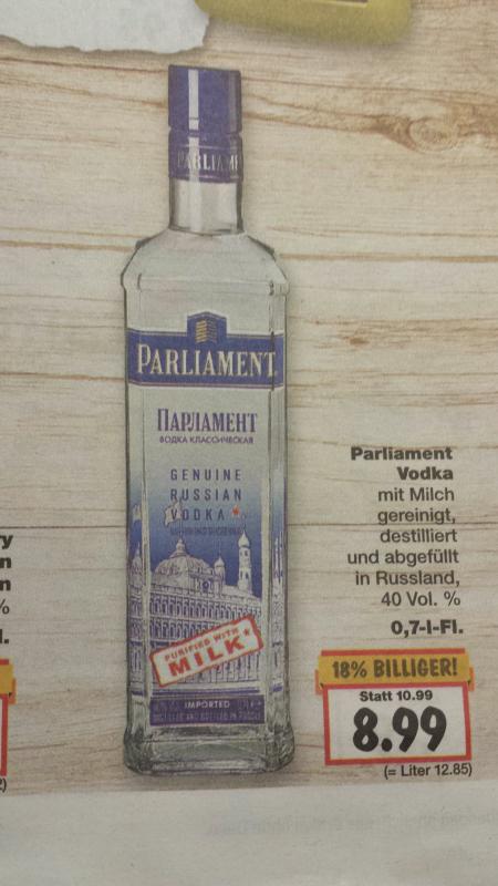 Parliament Vodka bei Kaufland