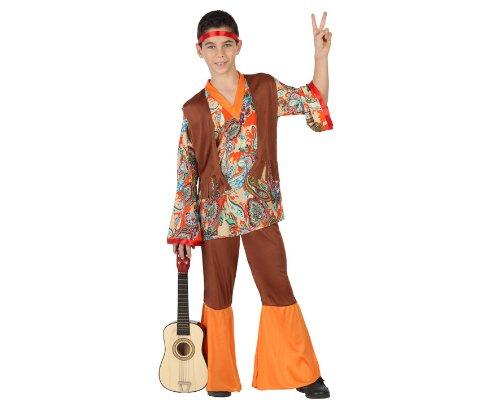 Atosa 23670 - Hippie Junge Kostüm, Größe 116, braun/bunt für 4,52€