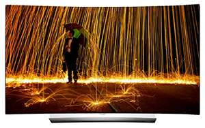 Amazon - LG OLED65C6D 164 cm (65 Zoll) Curved OLED Fernseher (Ultra HD, Dual Triple Tuner, Smart TV, 3D plus) [Energieklasse A]