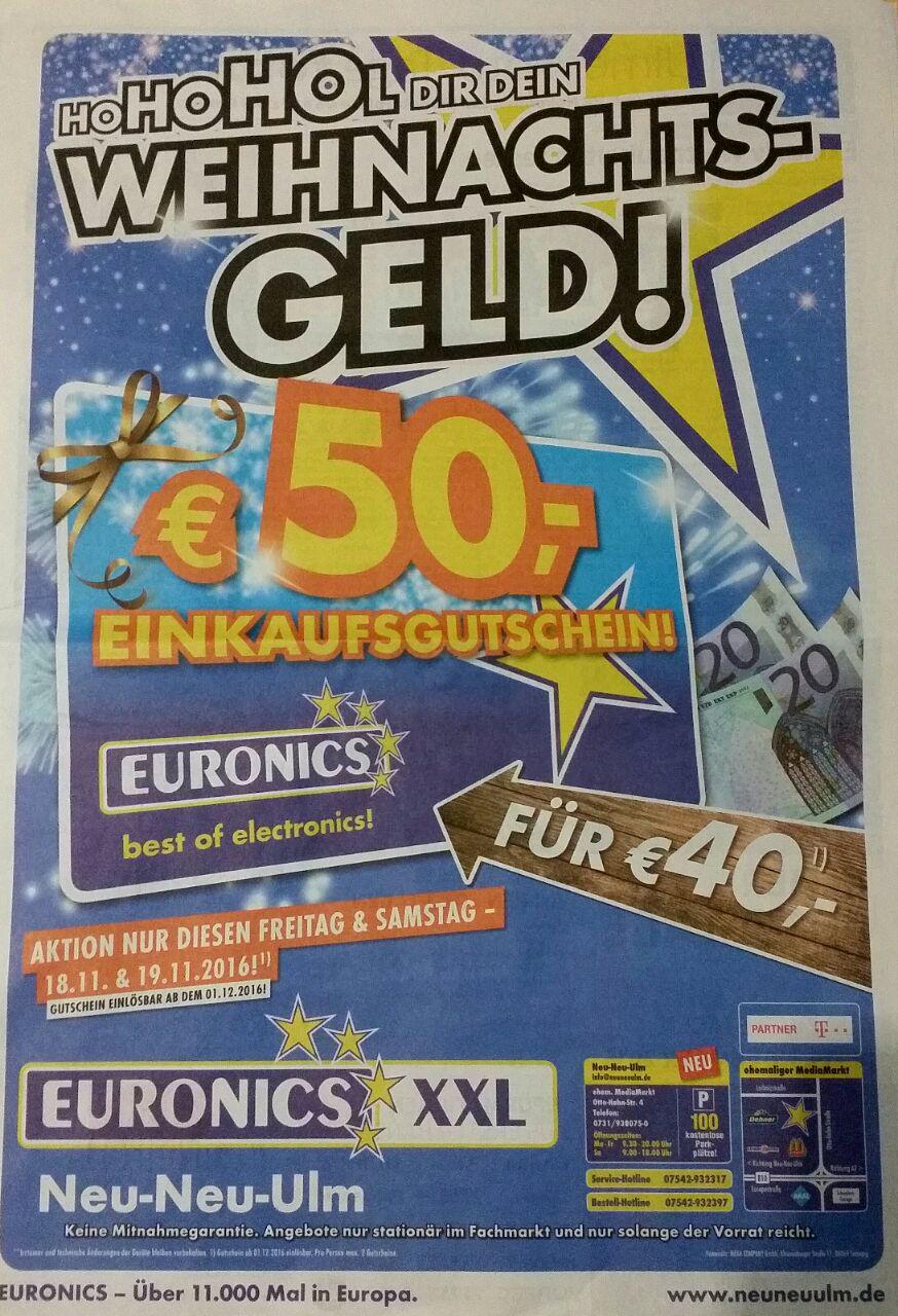 [Lokal Neu-Ulm] Euronics - 50€ Einkaufsgutschein für 40€ nur am 18.11 & 19.11