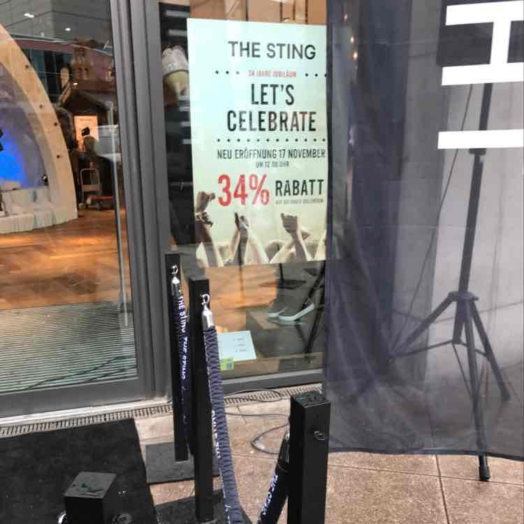 (Offline) The Sting Neueröffnung Duisburg 34% & bis zu 100€ Gutscheine