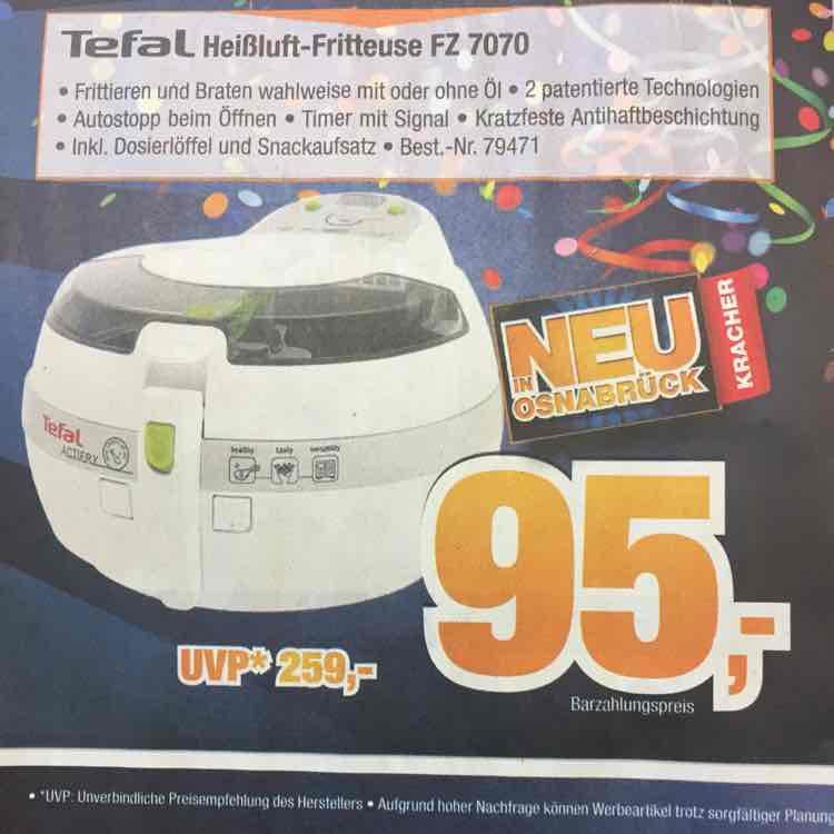 Tefal Heißluft-Fritteuse FZ 7070