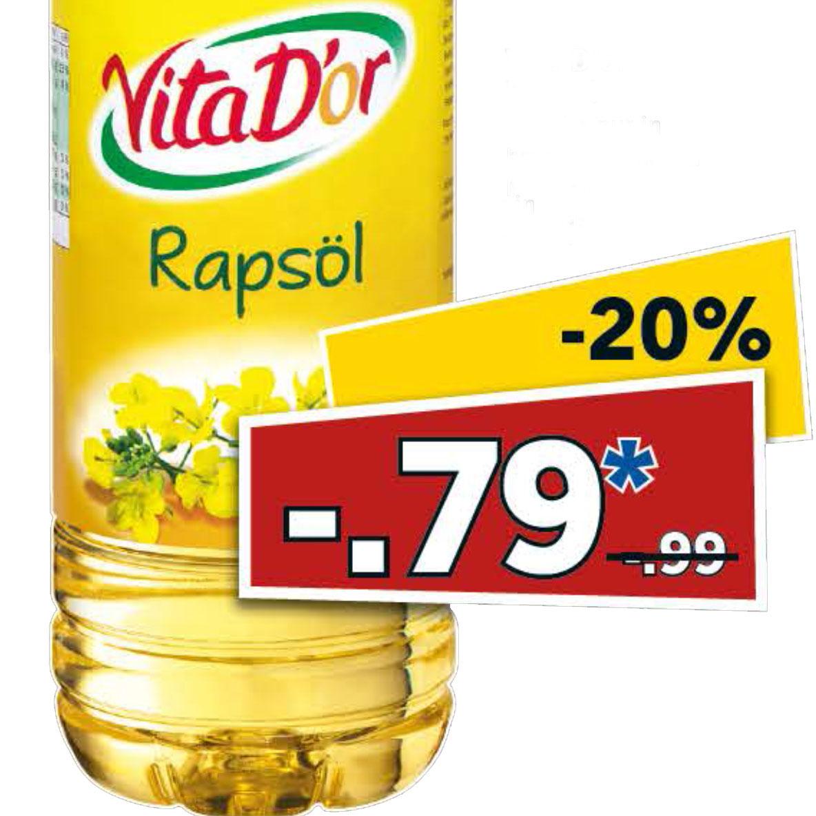 Rapsöl 1 Liter am Samstag für nur 79 Cent bei [Lidl]