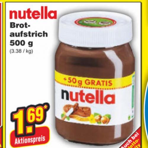 [Netto Marken-Discount ]Nutella 500g für 1,69 €