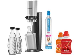 MediaMarkt - SodaStream Crystal + 3 Glaskaraffen + 60L Zylinder + 2x Sirup für 99€