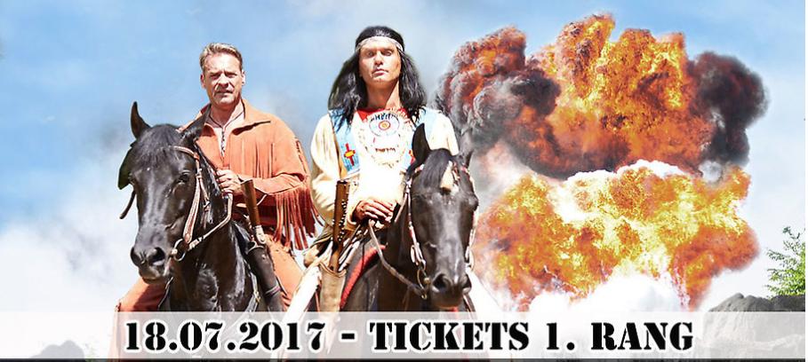 Karl May - Festspiele 2 Tickets 1. Rang zum Preis von einem