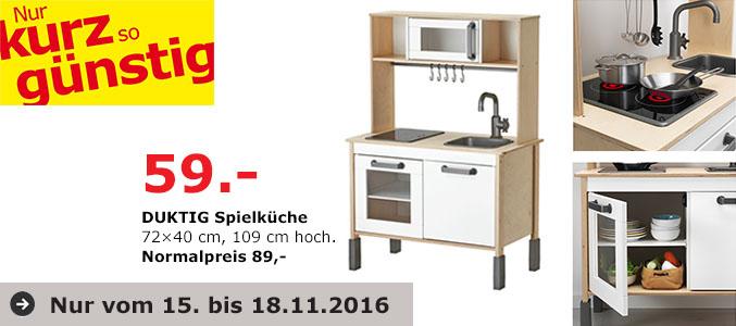 Lokal: Ikea Duisburg.  Ikea Kinderküche Duktig für 59€ statt 89€