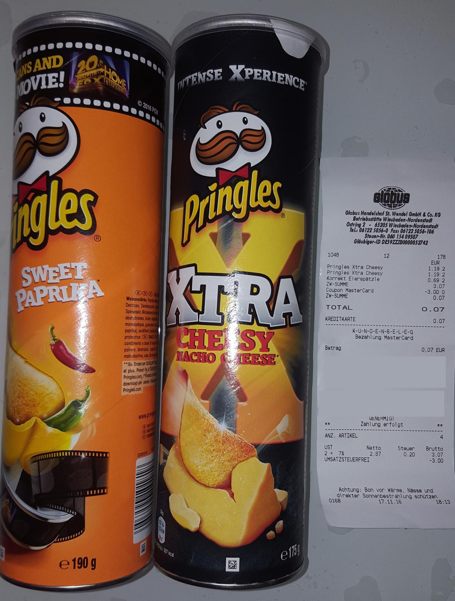 Pringles versch. Sorten für 1,19€ [Globus]