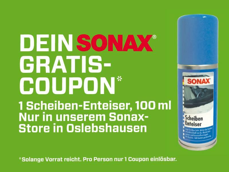 [Bremen Oslebshausen] 100ml SONAX Scheiben-Enteiser gratis bei McPart