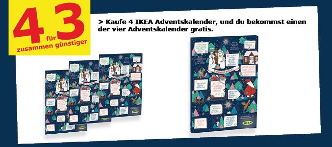 Lokal Ikea Ludwigsburg 4 Adventskalender zum Preis von 3