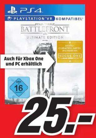[Lokal Mediamarkt Zwickau] Star Wars: Battlefront - Ultimate Edition (Playstation 4 / Xbox One und PC) für je 25,-€