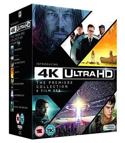 4K Ultra-HD Blu-Ray Boxset (Revenant,Kingsmen,ID,Maze Runner, Exodus,Life of Pi) für ca. 50 Euro (amazon.co.uk)