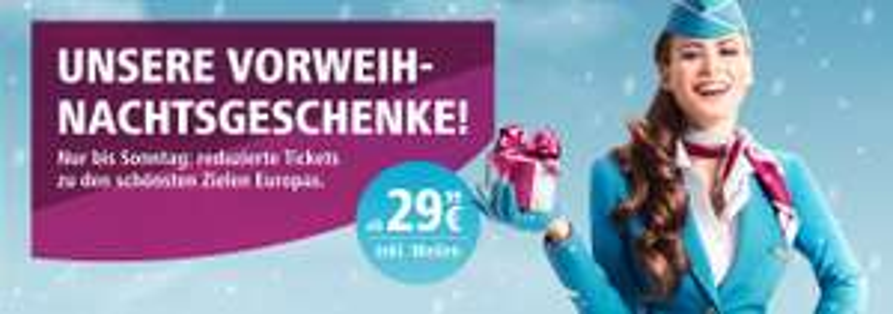 Eurowings Vorweihnachtsangebote ab 16,99€ | Flüge buchbar bis 28.10.17